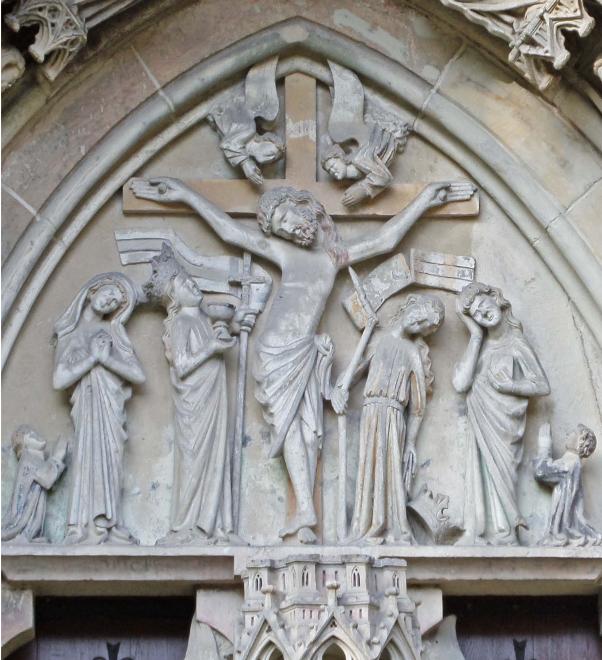 Ecclesia und Synagoga beim Gekreuzigten